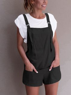 womens rompers jumpsuit Elastic Waist Dungarees Linen Cotton Pockets Rompers Playsuit Shorts Pants combi pantalon femme 31 people have bought this item SKU: 33038811722 Category: Rompers Related products Overalls Outfit, Romper Pants, Dungarees, Short Playsuit, Short Jumpsuit, Casual Jumpsuit, Rompers Women, Jumpsuits For Women, Shorts Negros