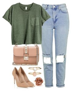 """""""60 seconds style!"""" by anja-jovanovich ❤ liked on Polyvore featuring Topshop, Valentino, Lipsy and Accessorize"""
