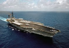 Indian Ocean (April - An aerial starboard bow view of the conventionally-powered aircraft carrier USS America (CV America was decomissioned in Aug. Navy photo by Photographer's Mate Class Robert D. Portsmouth, Norfolk, Uss America, Navy Carriers, Navy Aircraft Carrier, Go Navy, Navy Blue, Us Navy Ships, Navy Military