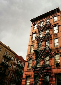 """Fire escapes on the Lower East Side. New York City. """"Everyone needs a Lower East Side in their life.""""—Irving Berlin"""