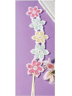 Free Crochet Patterns: Free Crochet Bookmark Patterns...great pattern for bracelet or necklace!