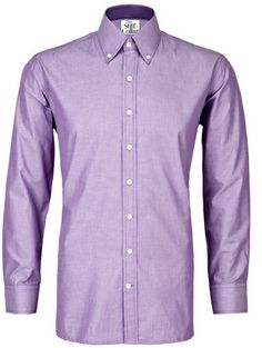 Dark Lilac Chambray Full Sleeves Button Down