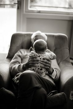 Photo idea: grandparent and baby at home