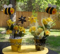 Pin By Amber Nealon On Bumble Bee Babee Shower Centerpieces