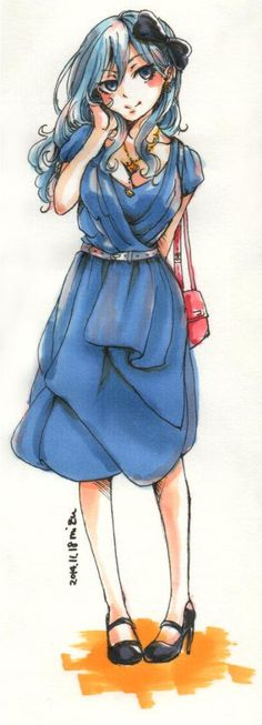 "unisonraidd: "" Trivial always draws juvia so pretty *^* i wonder if shes dressed like this for a date with gray Trivial "" Fairy Tail Juvia, Fairy Tail Gray, Fairy Tail Love, Fairy Tail Ships, Fairy Tail Anime, Gruvia, Juvia And Gray, Les Gifs, Fairy Tail Guild"