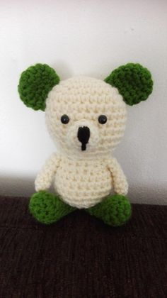 Stuffed Animals – Crochet Bear Small Toy – a unique product by MadamLove on DaWanda Pattern designed by Sharon Ojala.