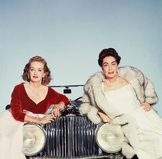 """The best time I ever had with Joan Crawford was when I pushed her down the stairs in Whatever Happened to Baby Jane?"" - Bette Davis with Joan Crawford Hooray For Hollywood, Golden Age Of Hollywood, Old Hollywood Glamour, Vintage Hollywood, Hollywood Stars, Classic Hollywood, Hollywood Boulevard, Joan Crawford, Marilyn Monroe"