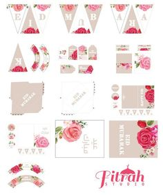Your platform for buying and selling handmade items- DIY Vintage Rose Decor for Eid Eid Mubarak Stickers, Eid Stickers, Round Stickers, Vintage Rosen, Diy Vintage, Eid Crafts, Diy And Crafts, Fest Des Fastenbrechens, Eid Moubarak