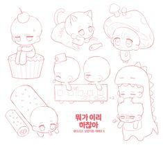Anime Drawings Sketches, Kawaii Drawings, Cute Drawings, Drawing Base, Figure Drawing, Chibi Body, Chibi Sketch, Sketch Poses, Drawing Anime Clothes