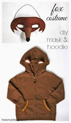 diy fox mask with hooded sweatshirt