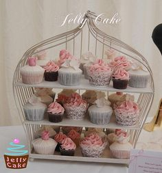 Dusky Pink Wedding Cupcake Tower | Flickr - Photo Sharing!