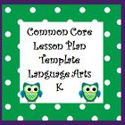 Save time planning your lessons!  This Excel Lesson Plan Template uses drop down boxes with Common Core State Standards! Created Using Microsoft Excel.  Template includes plans for whole group, word work, guided reading, writing and centers. Available K-5!