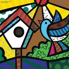 Fika a Dika - For a Better World: Romero Brito Tips Pintura Graffiti, Graffiti Painting, Pop Art, Arte Pop, Art Plastique, Elementary Art, Teaching Art, Famous Artists, Bird Art