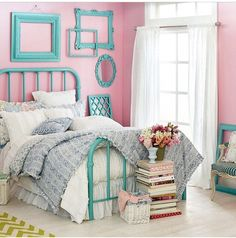 Aqua And Pink One Of My Fave Combos For A Little Girl S