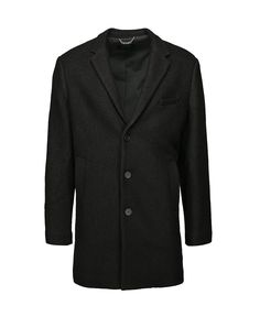 HOMMAGE BLACK BOUCLE COAT - Outerwear - Clothing - Mens Official Website - Mens & Womens Clothing