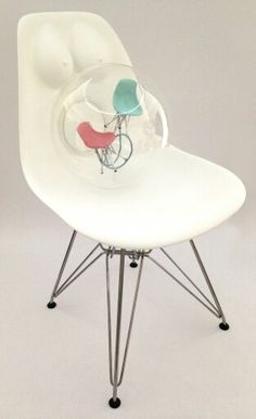 "This Eames ""Birth Chair"" was done by Alicia Hylton-Daniel"