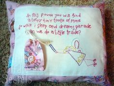 Tooth Fairy Pillow - Embroidered and Quilted