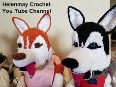Crochet Large Amigurumi Siberian Husky Dog Part 1 of 4 DIY Video Tutorial  HelenMay Crochet