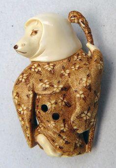 Netsuke Gallery | Mythical creatures. netsuke mammoth carver