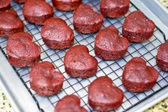 Red Velvet Chocolate Drenched Heartcakes Recipe — Dishmaps