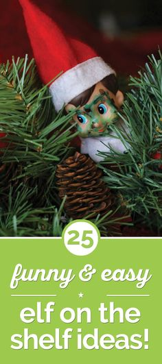 25 Funny & Easy Elf on the Shelf Ideas! - thegoodstuff Love the little Camo face for our Military Man. Elf On The Shelf, Shelf Elf, Winter Christmas, Christmas Holidays, Christmas Crafts, Christmas Ideas, Christmas Trivia, Elf Magic, Naughty Elf