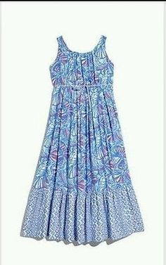 Lilly Pulitzer for TARGET Girls Maxi Dress My Fan,   Size M 7-8  Rayon