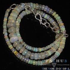 "57 Cts 15"" Natural Ethiopian Welo Fire Opal Smooth Rondelle Beads Necklace 7651"