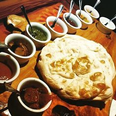 #BreadService at Sanaa in #DisneyWorld's #AnimalKingdomLodge! Pic from @pop_addict.  Tag #DisneyFoodBlog for a chance to see your pic on our Insta!  #yummy #dips #indianfood #naan #InstaDisney #Disney #DisneyPics #Dinner #DisneyFood #InstaGood #FoodPorn