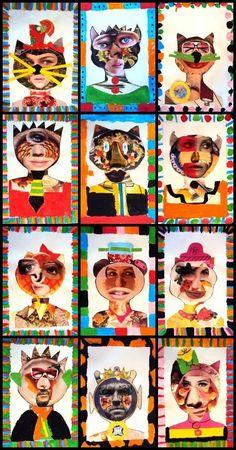 collage, shape, art journal, artist trading cards
