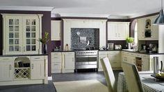 farbene farbpalette in der küche klassisch gestaltung wand farbe