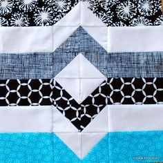 Periwinkle Quilting and Beyond: Block 13, Reflected Mountains