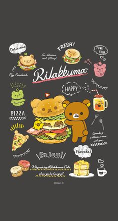 Rilakkuma Sanrio Wallpaper, K Wallpaper, Kawaii Wallpaper, Cute Wallpaper Backgrounds, Cute Cartoon Wallpapers, Chibi Kawaii, Kawaii Art, Kawaii Drawings, Cute Drawings