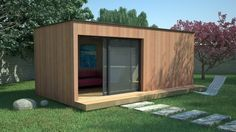 Prefab Office, Sauna House, Summer House Garden, Home Pub, Backyard Office, Double Vitrage, Glass Room, Paint Colors For Living Room, Interior Design Living Room