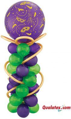 Mardi Gras Balloon Decor