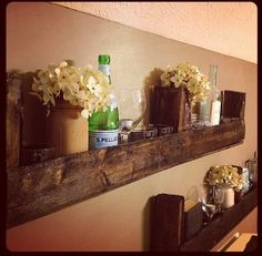 Wood Pallet Shelf by SouthernGAPeaches on Etsy, $30.00