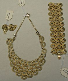 Jewelry set, metal 1955-59 American metmuseum.org