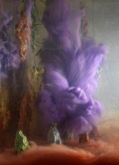 Картины из краски и воды художник Ким Кивер Kim Keever
