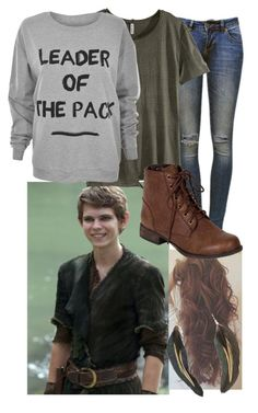 """""""Peter Pan (OUAT) Outfit"""" by brat4life11 ❤ liked on Polyvore featuring Once Upon a Time, Anine Bing, H&M, MINKPINK, Breckelle's and MANGO"""