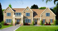Beautifully Proportioned Traditional House Plan - 42409DB | 2nd Floor Laundry, 2nd Floor Master Suite, Butler Walk-in Pantry, CAD Available, Colonial, Corner Lot, Den-Office-Library-Study, PDF, Traditional | Architectural Designs