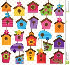 desenhos de casinhas de passarinho - Pesquisa Google