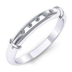 Inel logodna F57ADI INEL DE LOGODNA REALIZAT DIN AUR ALB 14K CU CINCI DIAMANTE  * Piatra principala: diamante 5buc x ~1.30mm - greutate: ~0.05ct * Culoare: G, Claritate: SI1, Taietura: rotund briliant Aur, Bracelets, Jewelry, Fashion, Joy, Jewerly, Moda, Jewlery, Fashion Styles
