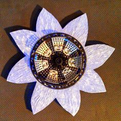 Handmade Lavendar Mixed Media Flower by JNicholsArt on Etsy