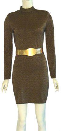 Vintage 80s Mini Bandage Dress