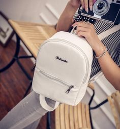 6.57$  Buy here - Backpacks Ladies Leather Women Bag Pouch Letter Travel Softback Girls Fashion For School Shoulder Bags  Mochila Feminina    #aliexpresschina
