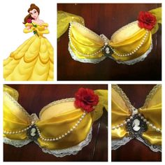Disney Belle Bra.  Not what I would wear but impressed with the creativeness.