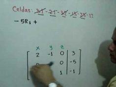 Solucion de un sistema de 3x3 por Gauss-Jordan (Parte 2 de 2): Julio Rios explica la solución de un sistema de ecuaciones lineales de 3x3 utilizando el Método de Gauss-Jordan (parte 2 de 2).