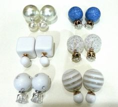 Double sided earrings classic  glass ball by AccessToriesStore