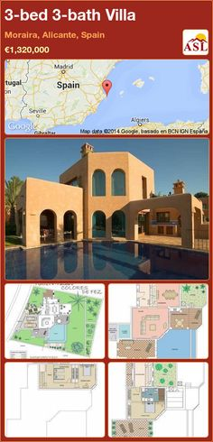 3-bed 3-bath Villa in Moraira, Alicante, Spain ►€1,320,000 #PropertyForSaleInSpain