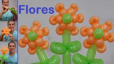 como hacer flores con globos largos - globoflexia facil - como hacer una...