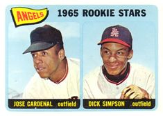 374 - Angels Rookies - Jose Cardenal - Dick Simpson RC